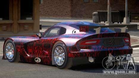 Dodge Viper SRT L-Tuning PJ1 para GTA 4