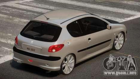 Peugeot 206 Tuned V1.0 para GTA 4