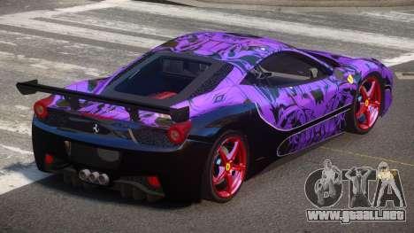 Ferrari 458 SRI-37 PJ5 para GTA 4
