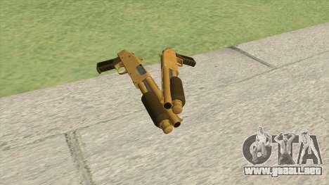Sawed-Off Shotgun GTA V (Gold) para GTA San Andreas