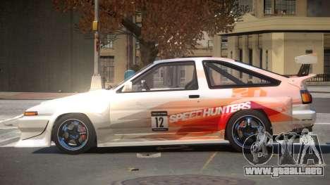 Toyota Corolla GT S-Tuning PJ2 para GTA 4