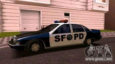 Chevrolet Caprice de 1993, la policía de san fra para GTA San Andreas