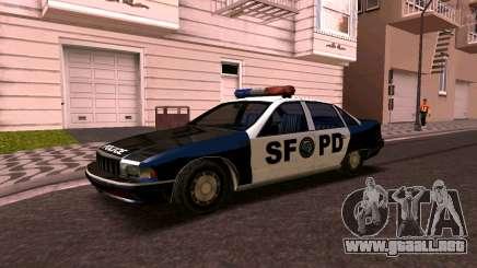 Chevrolet Caprice de 1993, la policía de san francisco SA de Estilo para GTA San Andreas