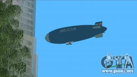 Dirigible de Yugoslava Milicija (policía) para GTA Vice City