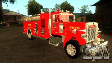 Peterbilt 379 Fire Truck para GTA San Andreas