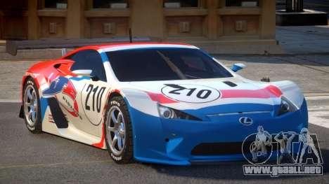 Lexus LFA R-Style PJ4 para GTA 4