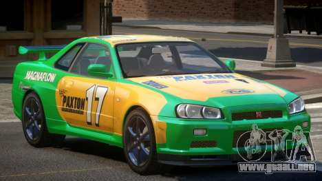 Nissan Skyline R34 GT-Style PJ3 para GTA 4