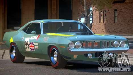 1969 Plymouth Cuda GT PJ1 para GTA 4