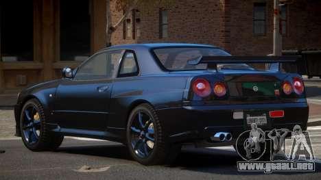Nissan Skyline R34 GT-Style para GTA 4