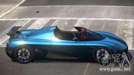 Koenigsegg CCXR D-Tuned para GTA 4