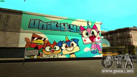 Unikitty Wall HD (San Fierro) para GTA San Andreas