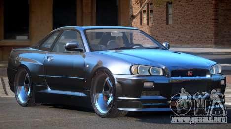 Nissan Skyline R34 SB para GTA 4