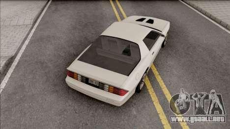 Chevrolet Camaro Z28 1986 para GTA San Andreas