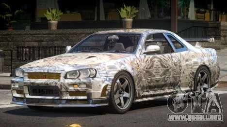Nissan Skyline R34 SL PJ4 para GTA 4