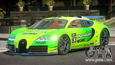 Bugatti Veyron SR 16.4 PJ4 para GTA 4
