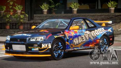 Nissan Skyline R34 R-Style para GTA 4