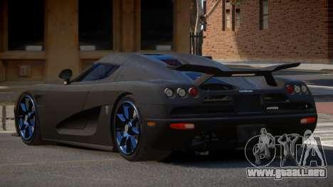 Koenigsegg CCXR R-Tuning para GTA 4