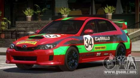 Subaru Impreza WRX SR PJ3 para GTA 4