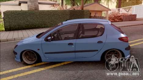 Peugeot 206 Blue para GTA San Andreas
