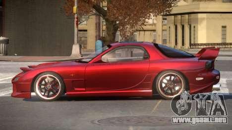 Mazda RX7 G-Tuning para GTA 4