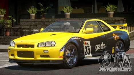 Nissan Skyline R34 GT-Style PJ5 para GTA 4