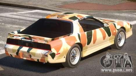 1991 Pontiac Firebird PJ2 para GTA 4