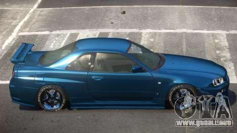 Nissan Skyline R34 DT para GTA 4
