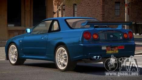 Nissan Skyline R34 MS para GTA 4