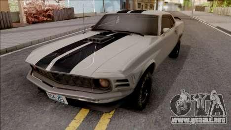Ford Mustang Boss 320 1970 [RHA] 1.1 para GTA San Andreas