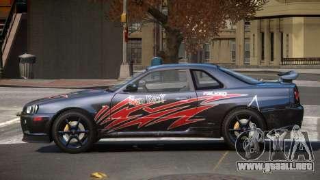 Nissan Skyline R34 GT-Style PJ6 para GTA 4
