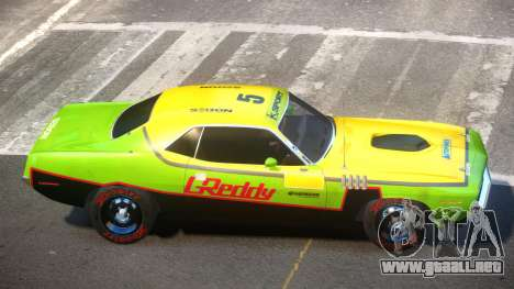 1969 Plymouth Cuda GT PJ4 para GTA 4