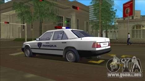 Norte De La Policía De Macedonia Mercedes para GTA Vice City