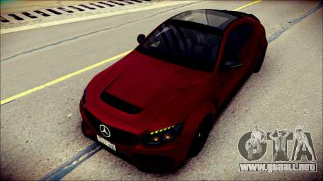 Mercedes-Benz C63 Coupe AMG Prior Design para GTA San Andreas
