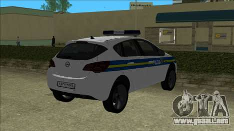 Policía Croata Opel Astra para GTA Vice City
