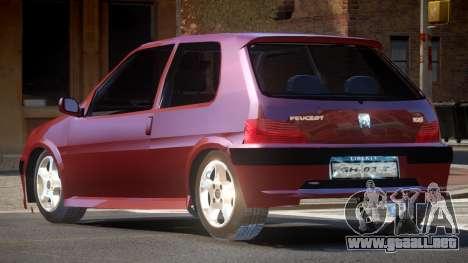 Peugeot 106 LT para GTA 4
