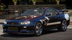 Nissan Skyline R34 GT-Style PJ2 para GTA 4