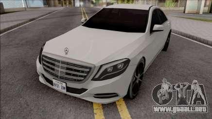 Mercedes-Benz S350 Bluetec 2014 SA Style para GTA San Andreas