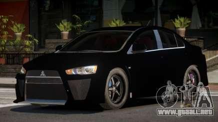 Mitsubishi Lancer X RT para GTA 4