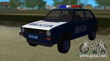 VW Golf Mk1 Yugoslav Yugoslav Milicija (police) para GTA Vice City