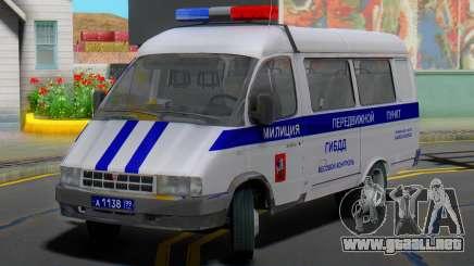 GAZelle 32213 de la estación Móvil de la policía de tráfico para GTA San Andreas
