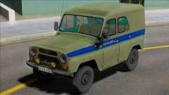 Uaz-469 Policía de Leningrado para GTA San Andreas