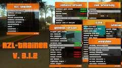 RZL-Trainer v3.1.2 - menú de trucos como GTA 5 para GTA San Andreas