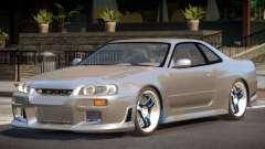 1998 Nissan Skyline R34 para GTA 4