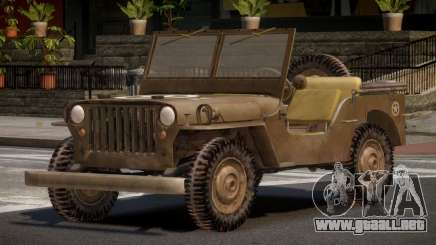 Jeep Willys FR para GTA 4