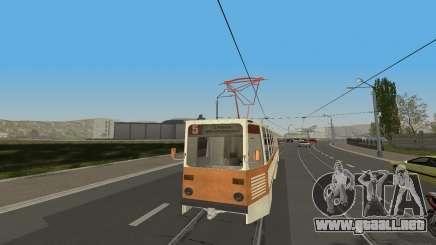 Tranvía de KTM-5M3 de los juegos de la Ciudad de la Conducción de Automóviles para GTA San Andreas