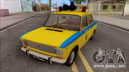 VAZ 2101 DE LA POLICÍA DE TRÁFICO DE 1975 para GTA San Andreas