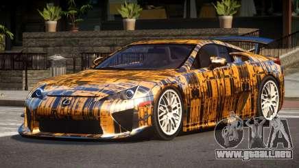 Lexus LFA RT PJ2 para GTA 4
