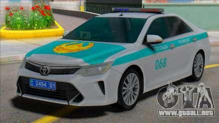 Toyota Camry 2015 Policía de Kazajistán para GTA San Andreas