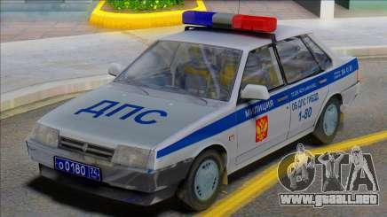 Vaz 21099 DPS Police para GTA San Andreas