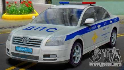 Toyota Avensis SOBRE la policía de tráfico para GTA San Andreas
